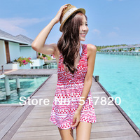 Free shipping Skirted korean bikini small push up tankini swimsuit swimsuit hot springs girls swimwear sexy korean bikini