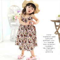 Free shipping 2013 Kids Flowers grils chevron  dress and Beach Ruffle dress and Girls Party dresses for Summer  Dress
