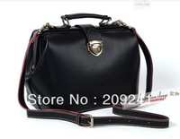 Korean style Lady doctor handbag fashion messenger bag retro tote handbag 5