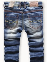 Retail  Retail fashion cool cotton denim boys jeans brand children's long pants for 2-10 years kids girls pants 1pcs