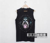 fashion women men rottweiler t-shirt sleeveless shirt vest tees