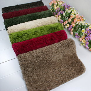 Square Carpets Cheap carpet mat for Bathroom and Entrance to Room Solid Color Flooring Mat Cute Area Rugs 50X80cm Free Shipping(China (Mainland))