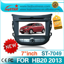 For Hyundai HB20 2013  car central multimedia with gps navigation BT radio ipod  RDS TV digital Touch Screen(China (Mainland))