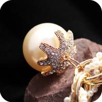 On0314 accessories fashion exaggerated necklace big pearl multi-layer petals fall the coarse chain women's
