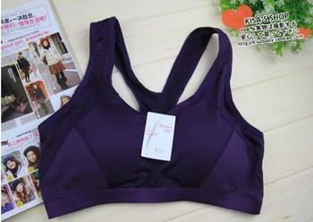 Quick Drying Shock Absorption Professional Denim Blue Sports Underwear Bra Vest Design Running Yoga Wireless Running Sports Bra