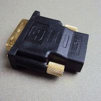 DVI 24+5 male To HDMI Female Gold Converter Adapter