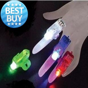 Wholesale - 300 pieces LED bright finger ring lights lamp as party xmas wedding glow Colorful fingers Laser light Free Shipping(China (Mainland))