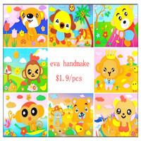 Cartoon 3D EVA  Handmade Puzzles, Magical DIY Children Hand Art  Sticker,Eva Puzzle Game Kids Gift  Educational Toys