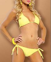 hot ! fashion wholesale sexy swimsuit  beachwear Bra and underpants  women yellow bikini sexy Swimwear bathing set HY42