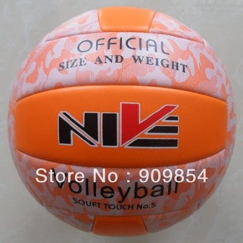 Free shipping hot sales NIVE official size 5 PVC beach volleyball. Soft touch. 260g/pc. Good quality.Ship randomly