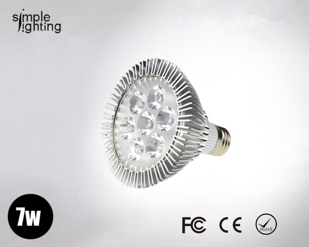 g2013 New year led products e14 e27 7w PAR30 spot light bulb Par 30 lamp warm cool while wholesale 30pcs/lot(China (Mainland))