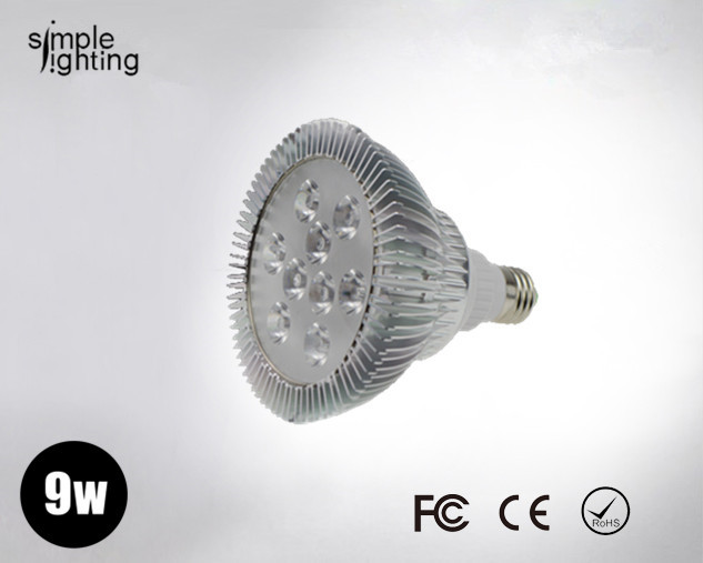 2013 New year led products e14 e27 9w PAR30 spot light bulb Par 30 lamp warm cool while Sample for test 5pcs/lot(China (Mainland))