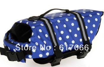 New Arrival 10pcs per lot Dog Life Jacket  Dog Life Vest & Dog Safety Vest Swimming Preserver XXS, XS/S/M/L POLKA DOT