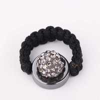 New Style! Free Shipping!10mm Handmade Disco Ball Beads Men Gift Crystal Shamballa Ring Fasion Women jewelry Ring SBR018