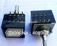 2pcs x 50K x 2 ALPS Metal Shaft Type RH2702 Potentiometer POT 8Pin