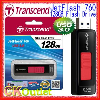 NEW Transcend JetFlash 760 8GB / 16GB / 32GB / 64GB /128GB Super-Speed USB 3.0 Flash Memory Drive w/ LifeTime Warranty(Free Gift