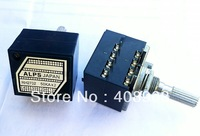Japan for Alps 50KAX2 LOG Type Volume Potentiometer 8PIN with Loudness,Free shipping