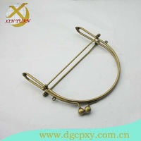 15*14.5cm concise antique brass metal handbag  frame with kiss lock