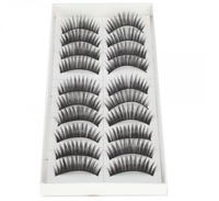 Free Shipping 10Pair Thick Fake False Eyelashes Human Hair Eye Lashes Makeup 009