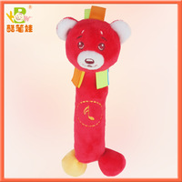2013 Disney approved factory plush educational toys for baby plush toys bear with BB sound soft baby bear toy