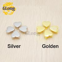 12mm Heart-Shaped Studs Golden Punk Rock DIY Rivet Spike/wholesale/Free Shipping 100pcs/lot GZ012-13G