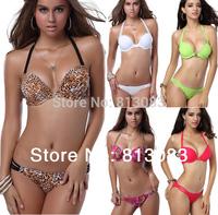 2014 Brand Fashion Newest Swimsuit Women's Multi-straps Push-up Padded Swimwear Bikini Sets 6 Colors 3 Sizes