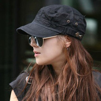 2013 fashion Flat leisure military cap pure color Cadet hats for men hats and caps 20pcs free shipping