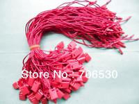 Free Shipping Red Hangtag String Plastic Seal Tag Garment Hanging Cord 200pcs/lot