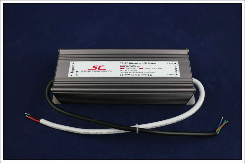 Triac dimmable driver 80W constant voltage 12V(China (Mainland))