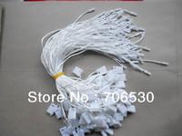 White Hang Tag Cord in Apparel Free Shipping 18cm Hanging String Garment Seal Tag 100pcs/lot