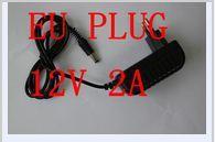 2pcs/lot AC 100-240V to DC 12V 2A 5.5x2.1mm EU Power Adapter Supply Charger For LED Strips Light EU Plug Free Shipping