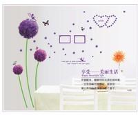 romantic dandelion flowers bedroom decoration crystal  wall art stickers kids room love vinyl wall paper bathroom mirror decor