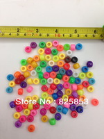 FREE SHIPPING  1800pcs/lot  6x9mm  Mixed Color Plastic Acrylic Pony Beads for Kid Jewelry