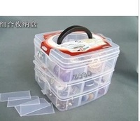 A231 plastic storage box transparent storage box plastic jewelry box tool box 302g  (With free shipping for $10)