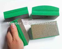 Electroplate diamond hand use block and pad for grinding polishing