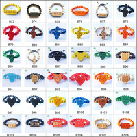 20PC/LOT Mix Order Fast shipping Hip-Hop good wood pendant bracelet stretch bracelets for women
