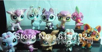 40pic/lot  Littlest Pet Shop LPS Animasl Loose Figures Collection toy free shipping  best gift for children