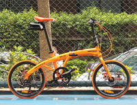 """freeshipping HACHIKO  20"""" inch aluminum alloy/high carbon steel  folding bicycle, 7-speed, disc brakes folding bicycle"""