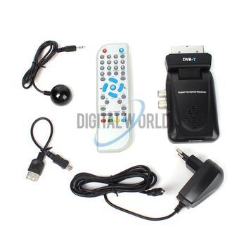 Scart Digital TV Box Tuner DVB-T FreeView Receiver SD #2610