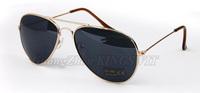2014 Designer Fashion Blue Mirror Aviator Sunglasses Brand Mirror Reflect Metal Sunglasses Women Retail 1pcs Free Shipping