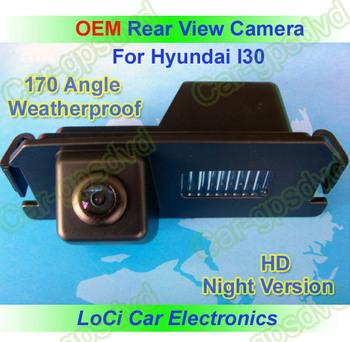 Free shipping! HD Rear View Hyundai I30 2007- 2011 CCD night vision car reverse camera auto license plate light camera