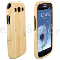 Wood Wooden Bamboo Hard Case Cover for Samsung Galaxy S3 III i9300 3g 4g lte