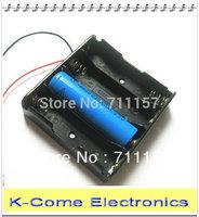 Free Shipping 50pcs In Lot Li-ion 4 x 18650 Battery Box 14.8v Plastic Battery Pack Holder Case Storage Box