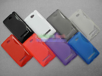 Free Shipping! High Quality Soft TPU Gel S Line Skin Back Cover Case for HTC 8S A620e Matte TPU Soft Case, HCC-023