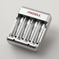 PKCELL Standard Battery Charger US Plug Flat Shape Plug 8174 For AA/AAA Ni-MH/Ni-Cd Rechargeable Battery Free Shipping