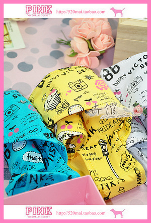 MixedLot 2013 Fashion Brand high quality 100% cotton lady panty 60 style size M-L Colourful cute woman's girls underwears 10PCS(China (Mainland))
