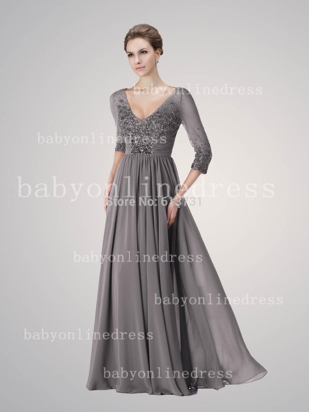 Wholesale 2014 newchiffon a line v neckline mother of the bride