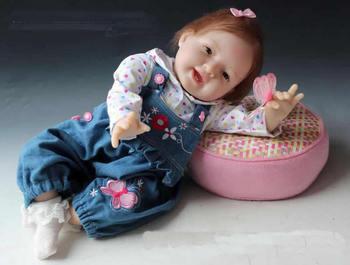 "Hot fashion 20"" Reborn baby High Quanlity New silicone vinyl Dolls Simulation Baby Doll Baby Girl Toys soft Matryoshka Doll"