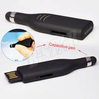 Free shipping Wholesale full capacity Genuine 4GB 8GB 16GB 32GB capacitive pen USB2.0 Memory Stick Flash Pen Drive, Q5183