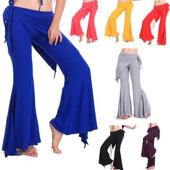 Hot Sell Quality Women Yoga Tribal Belly Dance Costume Dancing Pants 7 colors # L034916